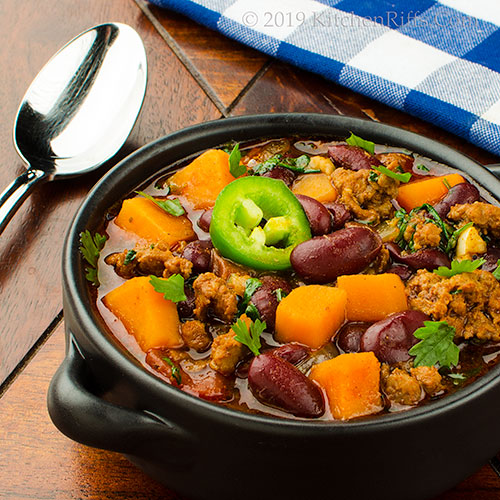 Chorizo and Sweet Potato Chili