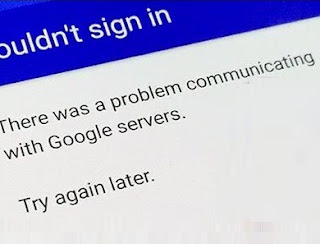 There Was a Problem Communicating with Google Servers