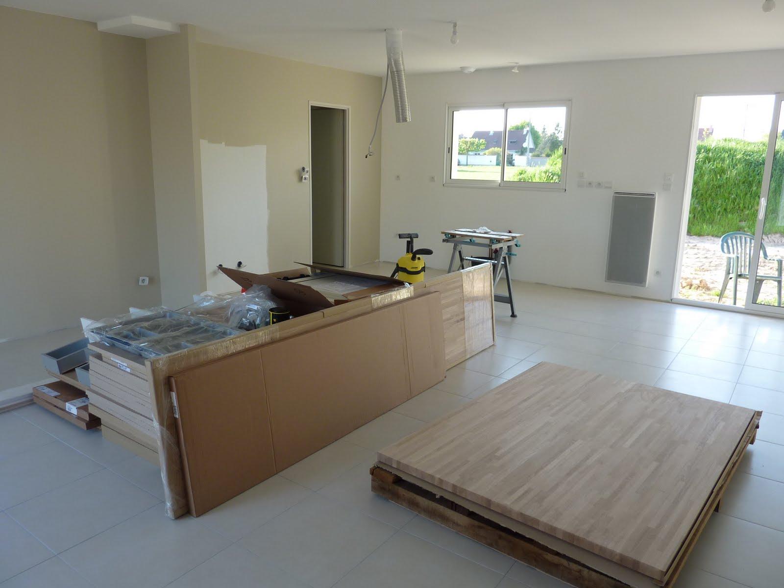 la construction de lac peinture de la pi ce vivre. Black Bedroom Furniture Sets. Home Design Ideas