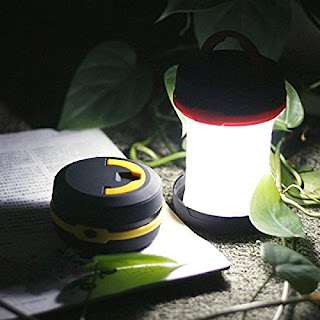 Loopan 2 in 1 Pop Up LED Lantern and Flashlight Multifunctional Portable Foldable Light with Hanging Handle for Camping Tent Hiking Fishing Multicolor