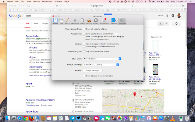 How to show full website address in address bar on Safari browser on Mac OS X