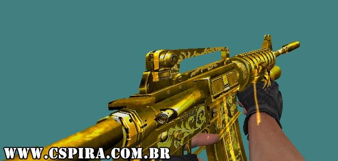 Skin [M4A1] (Gold) - CSPira!