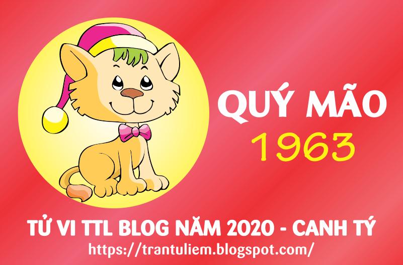 TỬ VI TUỔI QUÝ MÃO 1963 NĂM 2020 ( Canh Tý )