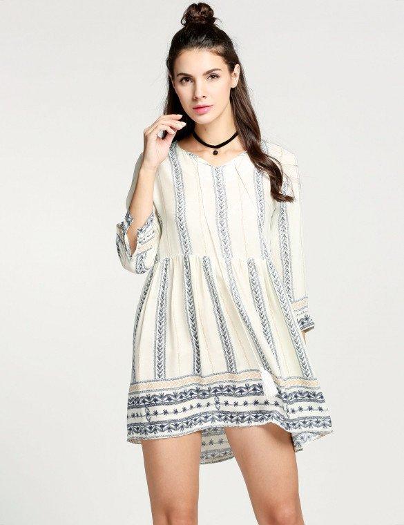 Vestido corto hippie