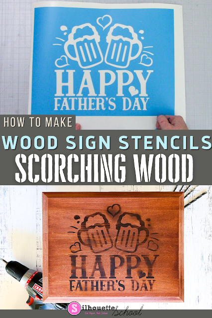 silhouette 101, silhouette america blog, wood signs, silhouette stencils, oramask