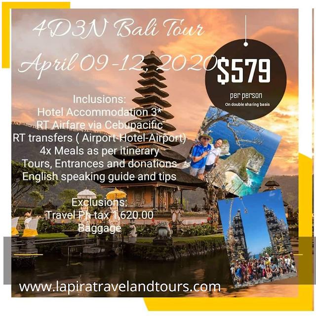 Bali Promo Tour 4d 3n Lapira Travel And Tours Corp Lapira Travel And Tours Corp