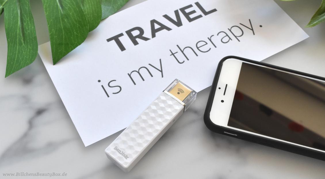 Reise Essentials & Must Haves - Datensicherung mit SanDisk Connect Wireless Stick
