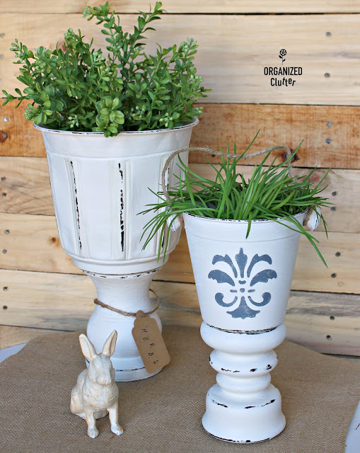 Thrifted DIY Urn Planters