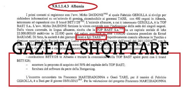 The sports betting scandal, the name of Igli Tare in Italian Prosecution's file