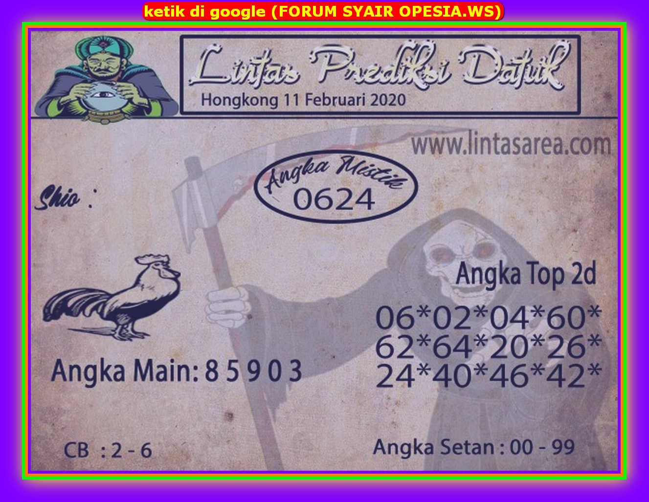 Kode syair Hongkong Selasa 11 Februari 2020 93