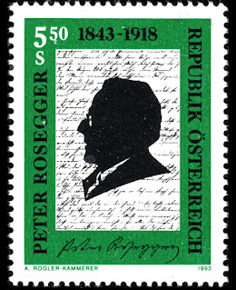 Austria 1993 - 150th Anniversary of the Birth of Peter Rosegger