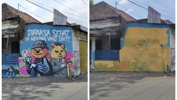 Heboh Dihapusnya Mural 'Dipaksa Sehat di Negara yang Sakit': Pembuatnya Dicari