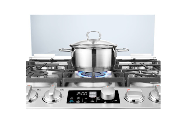 LG smart cooking gas