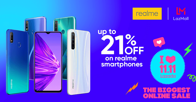 Realme series joins Lazada 11.11 grand online sale
