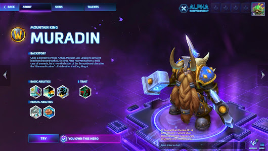 HOTS Hero of the Week - Muradin a Warrior of Azeroth