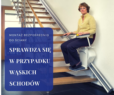 Krzesełko Otolift sprawdza się przy montażu na wąskich schodach.