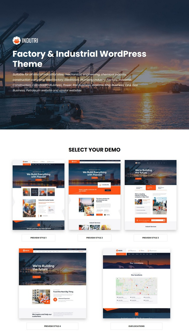 Best Factory & Industrial WordPress Template