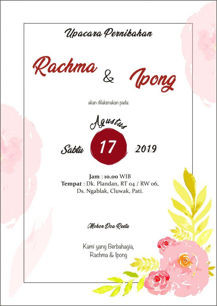 download template desain undangan pernikahan