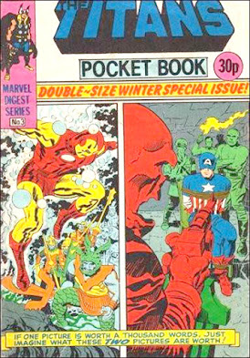 Titans Pocket Book #3, Iron Man and Captain America