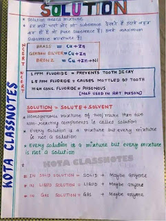 General Chemistry Paper Hand Written Notes PDF Download for