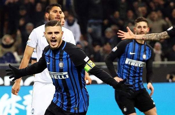 Doppietta di Icardi all'Atalanta e l'Inter resta al passo del Napoli | Calcio Serie A