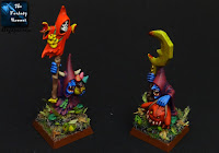 Night Goblins Shaman and Warboss bases