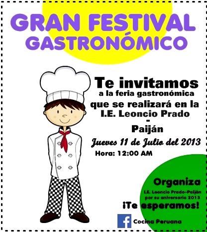 festival gastronómico en leoncio prado paiján
