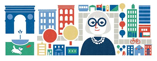Google Doodle Rayakan Ulang Tahun Jane Jacob