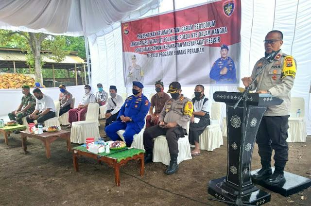 Wakapolda NTB Resmikan Kelompok Tani Garam Beryodium di Kecamatan Keruak