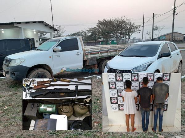 Polícia prende integrantes de quadrilha que roubava caminhonetes na região de União Bandeirantes