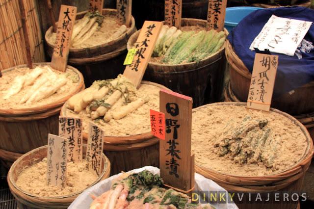 Verduras en el Nishiki Food Market
