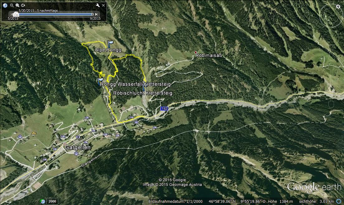 Klettersteig Austria Map : Sport ist geil: zwei klettersteige röbischlucht und rongg wasserfall