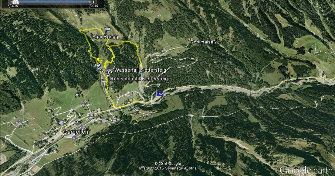 Klettersteig Austria Map : Sport ist geil zwei klettersteige röbischlucht und rongg wasserfall