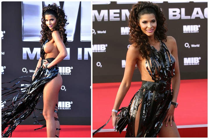 Busana Paling Seksi di Red Carpet - Micaela Schäfer at the Men in Black premiere