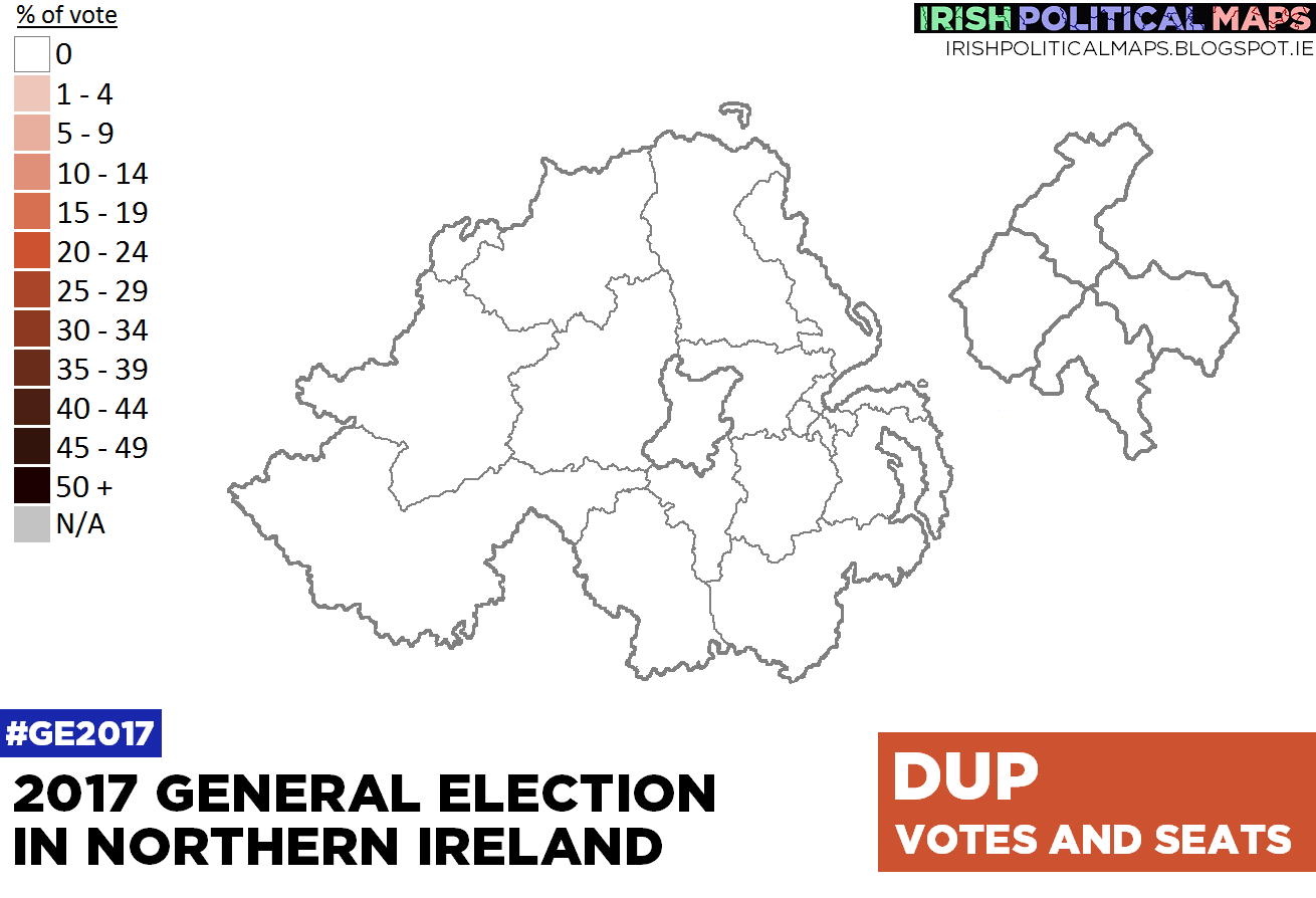 Map Of Uk General Election Results.Irish Political Maps 2017 Uk General Election Northern Ireland Results