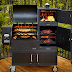 Flame broil Smoker Combo - Enjoy the Cool Breeze Outside