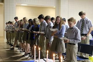 Montgomery Catholic's National Junior Honor Society Welcomes New Members 1