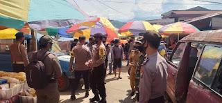 Cegah Tindak Kriminal dan Covid-19, Sat Sabhara Polsek Alla Patroli di Pasar Sudu