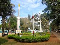 Maquetes de foguetes Sonda no  Parque Santos Dumont