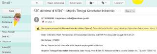 nomor berkas dicek pada email kedua setelah terverifikasi