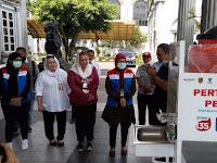 Cegah Corona, Pertamina Pasang Wastafel Di Pasar Tradisional