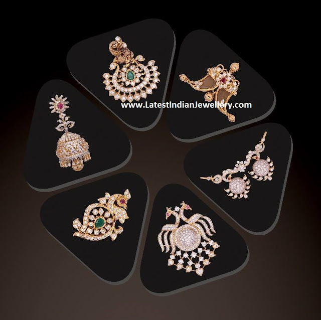 Diamond Pendants Jhumka Collection