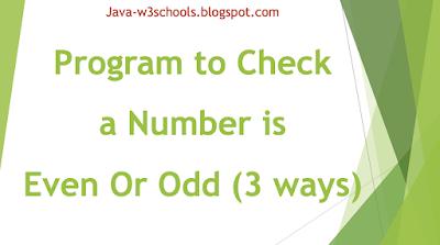 java-program-check-even-odd