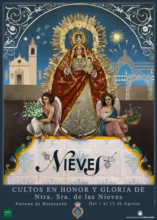 Cartel de Nuestra Señora De Las Nieves 2021 de Benacazón