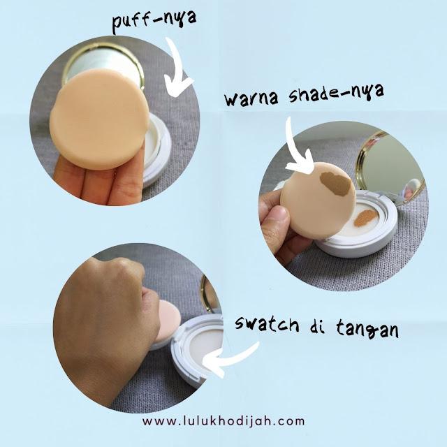 Review eBright Skin Glow BB Cushion Natural Beige (1)