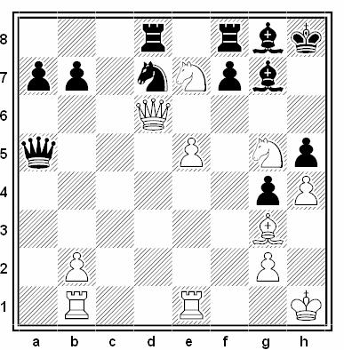 Posición de la partida de ajedrez Ezra Taylor - Finn Russell (Wellington, 1980)