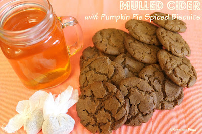 Mulled Cider with Pumpkin Pie Spiced Biscuits (vegan)