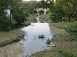 The Fiume Rubicone is little more than a stream in places on its 80km journey from the mountains to the Adriatic
