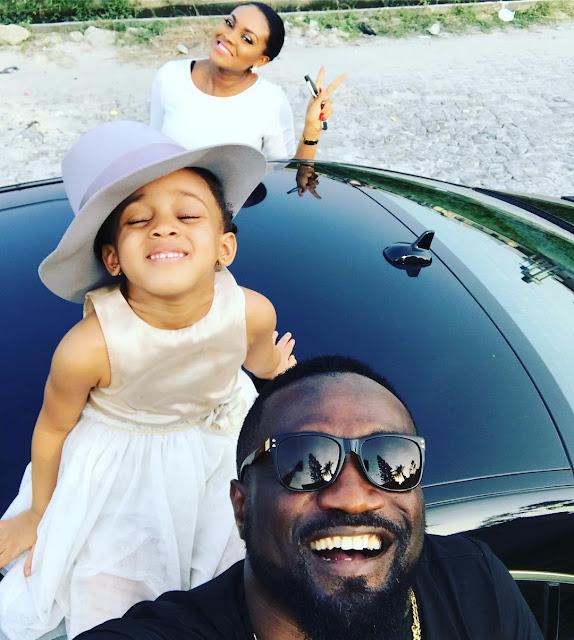 Adorable photo of Jude Okoye and family