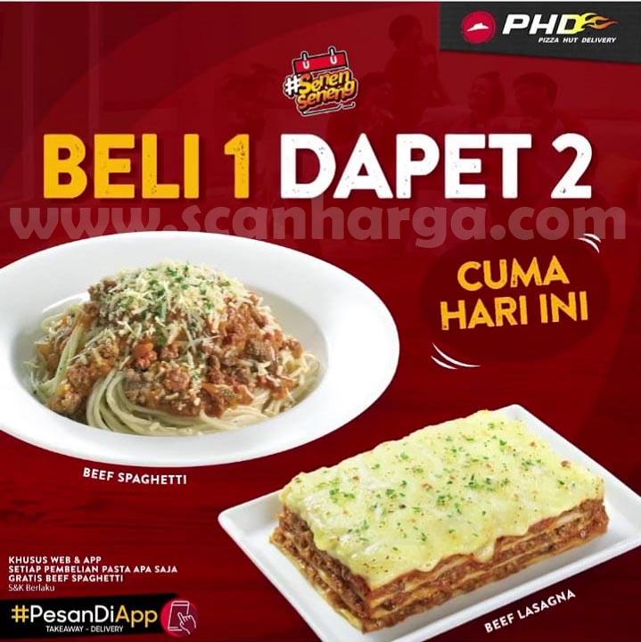 Promo PHD BELI 1 DAPET 2 untuk setiap Pembelian Pasta Apa Saja Gratis Beef Spaghetti*